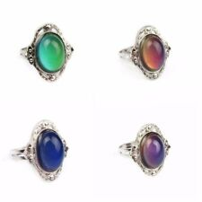 Big Vintage Adjustable Bohemia Retro Mood Ring Emotion Feeling Color Changeable