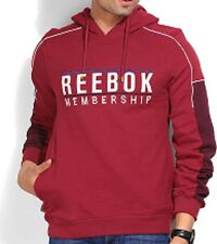Reebok Mens FM Hoody sweatshirt BNWT hoodie with pockets long sleeved, gym wear