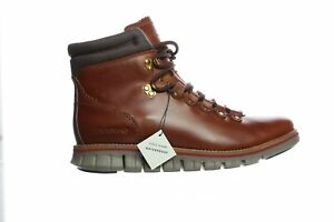 Cole Haan Mens Zerogrand Hiker Brown Ankle Boots Size 7