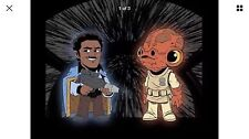 STAR WARS ROAD TO CELEBRATION ORLANDO 2017 OFFICIAL LANDO & ACKBAR SHIRT SIZE L
