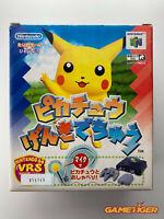 PIKACHU GENKI DE CHU POKEMON + VRS PACKAGE Nintendo N64 JAPAN Ref:314145