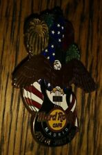HARD ROCK CAFE HRC MADRID 4TH OF JULY 2011 EAGLE GUITAR COLLECTIBLE PIN RARE /LE