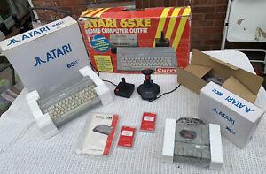 ATARI 65XE & XC12 - Boxed Inlays Manual - Fully Working - Games - Joysticks UK