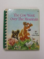 Little Golden Book 1963 THE COW WENT OVER THE MOUNTAIN Twin Vision Braille