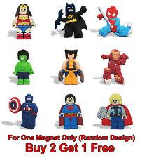 BUY 2 GET 1 FREE Marvel Superhero PVC Fridge Magnet Boy Kids Party Bag Fillers