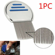 Hair Lice Comb Brushes Stainless Steel Nit Free Terminator Fine Egg Dust Removal