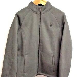 SPYDER Polar Jacket Gray Charcoal Unisex Men's Large Coat NWT MSRP $169.99