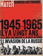 Paris Match n°823 du 16/01/1965 Invasion de la Russie 1945 Barbarossa Wehrmacht