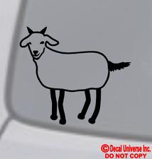 Stick Figure GOAT Vinyl Decal Sticker Car Window Wall Bumper Family Pet Animal