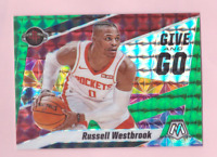 2019/20 Mosaic RUSSELL WESTBROOK Green Mosaic Prizm Refractor Mint Give and Go