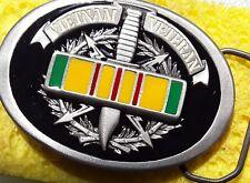 Vietnam veteran color Sevice Ribbon belt buckle army sf usmc, Navy