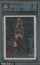 2003-04 Topps Chrome #111 LeBron James Cavaliers RC Rookie BGS 9 w/ (2) 10's
