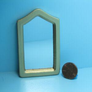 Dollhouse Miniature Classic Wood Wall Mirror in Gold CLA10578