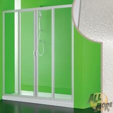 SHOWER DOOR 1400 MM ENCLOSURE CUBICLE CORNER 2 SLIDING DOORS IN PVC ACRYLIC
