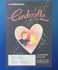 THEATRE FLYER CINDERELLA THE MUSICAL SIGNED BY HELEN HOBSON
