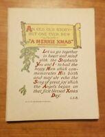 1910s Vintage Antique Christmas Card Unused set of 13 blank inside