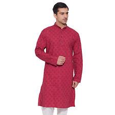 Men Full Sleeve Designer Indian Cotton Long Kurta Casual Wear Printed K 3072