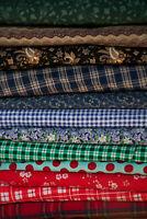 "100% Cotton 12 Fat Quarters FaceMask Fabric 18""x21-22"" Mens/Womens Blues, Greens"