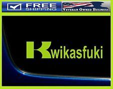 """9"""" KWIKASFUKI Kawasaki Vinyl Decal Sticker Tank Ninja Bike ZX10R ZX6R ZX9R ZX14R"""
