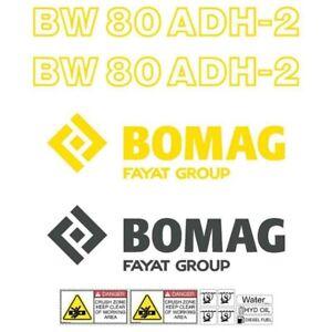 Decal Sticker Set Bomag BW 80 ADH-2 Roller Decal Set