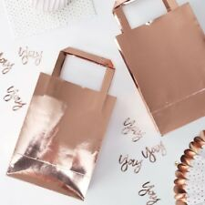 ROSE GOLD PARTY BAGS - Wedding,Hen Do,Birthday,Gift,Paper Bag,Favour,Celebration