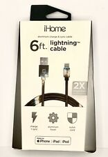 iPhone Lightning Cable 6 ft IH-CT1066AJ iHome Nylon Braided Charge & Sync Cable