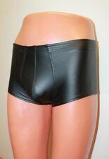 Gennady 501-15 Black Spandex Skin-Like Men Short Shorts Underpants Size M