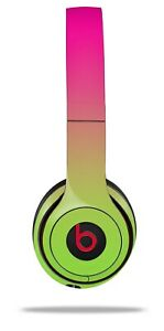 Skin Beats Solo 2 3 Smooth Fades Neon Green Hot Pink Headphones NOT INCLUDED