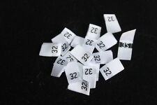 Woven label, size pip, 50pcs Damask in White color Fast delivery Melbourne