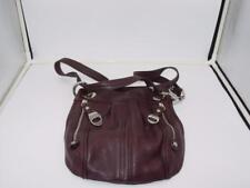 B Makowsky Rich Brown pebble leather shoulder-bag handbag purse cross-body