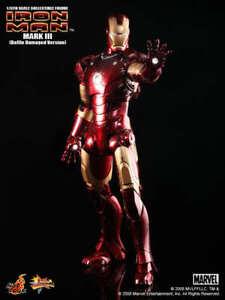 Hot Toys Mms 110 Iron Man – Mark III (Bataille Damaged Version)