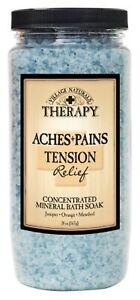 BL Village Nat. Aches + Pains Tension Relief Bath Soak 20oz X 3 Counts