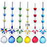 Rainbow Butterfly Crystal Suncatcher Chandelier Ball Prism Pendulum Pendant Gift