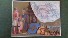 1881 GREECE THESSALLY GREEK MAP EVZONE COSTUME CARD