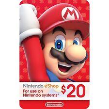 SALE!! Nintendo Switch E Shop Gift Card 20 USD