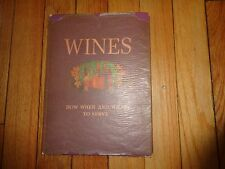Wines How When and What to Serve Vintage Book Schenley 1934 Robert Marks
