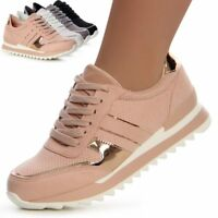 4dde70c31fa7cd Damenschuhe Plateau Turnschuhe Sneaker Sportschuhe Metallic Keil Blogger  Style