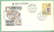ITALIA BUSTA PRIMO GIORNO 1962 GIORNATA FRANCOBOLLO ANNULLO SPECIALE PADOVA FDC