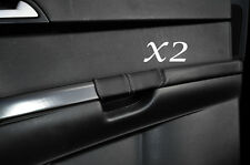 GREY STITCH FITS VOLVO S40 & V50 2004-2013 2X REAR DOOR HANDLE LEATHER COVERS
