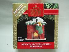 1991 Hallmark Peanuts #1 Fireplace Magic Flickering Light
