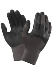 Ansell 97-310 Activarmr MadGrip Palm Knuckles Gloves Grey / Black Size - L/XL