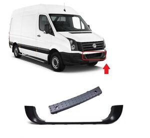 FRONT BUMPER LOWER CENTER GRILL FRAME BLACK WITH MOLDING FOR VW CRAFTER 06-17
