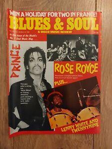BLUES & SOUL MAGAZINE # 324 MARCH 1981 PRINCE ROSE ROYCE LENNY WHITE SHARON REDD