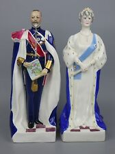"Royal Worcester 2 figurines 3089 3090 ""King George V"" & ""Queen Mary"" LE72 (1935)"