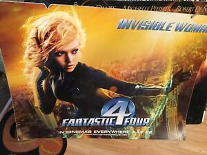 Marvel Fantastic Four Invisible Woman Film Premiere Board Jessica Alba