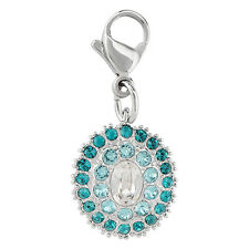 Authentic Origami Owl AQUA VINTAGE DANGLE WITH SWAROVSKI CRYSTALS