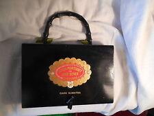 Handmade TOS wood cigar box purse hand bag signed 2003