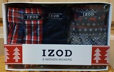 Izod 3-Pack Varsity Red Men's Woven Boxers, Size Small - Msrp $40