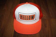 Old School Yellow Trucking Company Logo Mesh Snapback Trucker Hat Cap