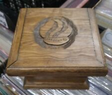 Wooden Storage Box Carved GIRL SCOUTS